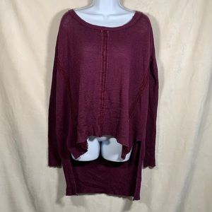 Free People Hi-Low sweater with lace detail size M